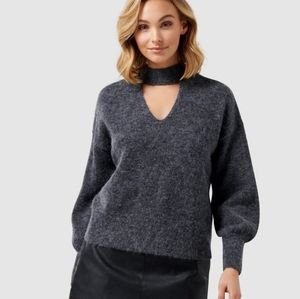 Forever New Jane Halo Neck Grey Sweater  Size XS